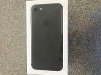 I phone 7 matte black 32gb brand new in box