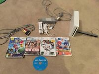 Nintendo Wii & 5 Games