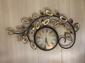 Beautiful metal wall clock