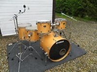 Yamaha Stage Custom Standard Birch drum kit with stands,pedals and cases