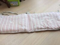 Handmade embroidered cot bumper