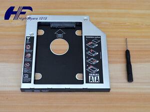 9.5mm Universal Caddy SATA 2nd HDD SSD Hard Drive CD/DVD-ROM Optical Bay adapter