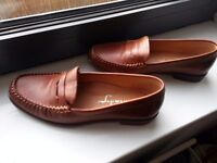 Maria Lya leather flats in cognac colour (size 36/3)