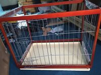 Dog/ pet small wooden playpen 64x95cm foldable