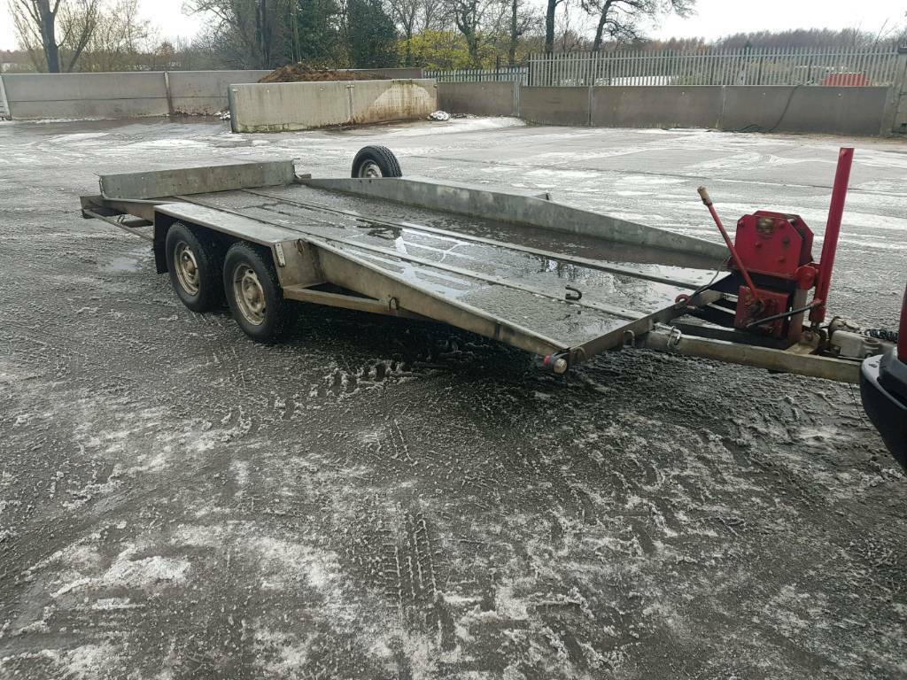 Bateson 16ft tilt bed car transport trailer