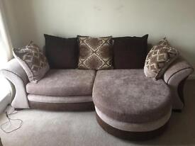 Chaise long settee and chair