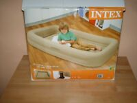 child's travel pump up bed