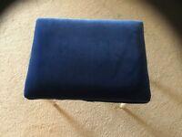 Blue Velour Covered Stool