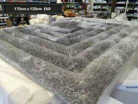 brand new LUXURY THICK GLITTER rugs 67inches x 47 inches(range of colours and sizes )