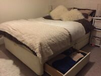 King Size Divan Bed with Mattress & 4 Storage Drawers in vgc. £50 ono - pick up only