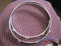 """!!RARE FIND!! 60s LUDWIG 14"""" 8 LUG DRUM HOOPS x 2( Collection LE27QT)"""