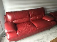 3 seater and 2 seater leather sofas - excellent condition