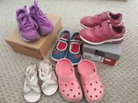 Girls shoes sizes 9, 9.5 and 10. Clarks, Reebok and TU