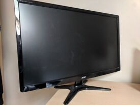 """24"""" Monitor for sale previously used for PC gaming. 60Hz, 1xHDMI port, 1xDVI port, 1920x1080p."""