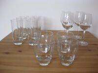 3 Sets of Glasses (M&S, Ikea)