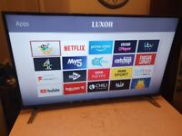 Brand new boxed luxor 55 inch smart 4k uhd hdr led tv with wifi, apps,