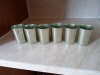 old canteen alloy type tumblers set of 6 see details