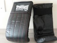 Lonsdale leather punch bag mitts