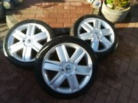 """Renault clio rare 16"""" alloys x3 price is for all 3"""
