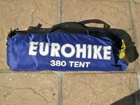 Eurohike 3 man tent plus sleeping bags and beach shelter tent