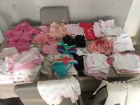 Beautiful baby girl outfits/ sleepsuits/vests/hats