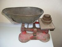 A. F. BURROWS ANTIQUE WEIGHING SCALES with Weights IN GOOD WORKING ORDER