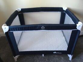 Travel cot and mattress