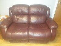 Double Leather Lazyboy Recliner