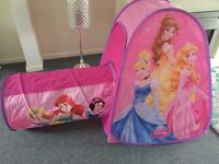 Pop up disney princess tent