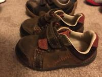 Clarks size 4.5 baby shoes