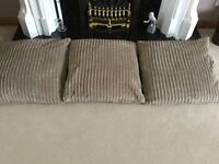 3 Very Large Cushions in a Lovely Jumbo Corduroy Fabric - Only £1 Each!