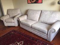 G-Plan Cream Sofa & Armchair very good condition
