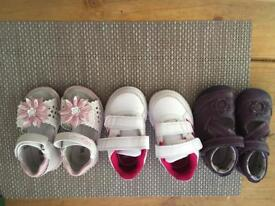 3 pairs of girls shoes size 4
