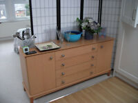 Quality Stylish Solid Wood Side Board With 4 Drawers Plus Two Side Doors Good Condition Bargain