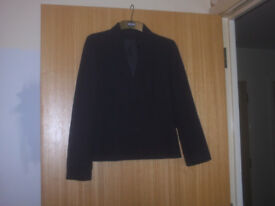 Ladies/Girls Navy Blue Jacket short fit Size 8/10