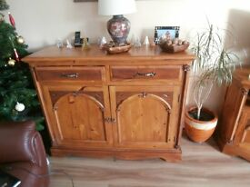 Pine Sideboard / Cupboard - High Quality Solid Wood Unit (large Sideboard)