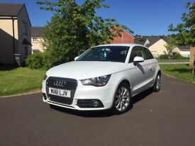 Pure white Audi A1 1.6 TDI Sport MOT til jan 2019 free tax! Comes with RAC Platinum warranty