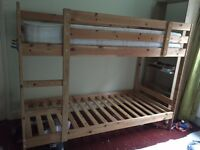 Bunk wooden bed frame FREE , collect asap
