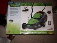 Electric lawnmower with 1200W Turbo Power motor and high traction , florabest