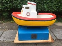 KIDS COIN OPERATED BOAT RIDE FUNFAIR AMUSEMENT ARCADE