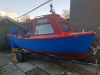16ft fibreglass fishing boat, great condition