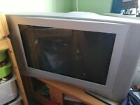 FREE Large back 26 inch screen silver tv FREE