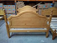 Solid Pine, antique pine finished, Pescara style King size frame, HUGE DISCOUNT just £50!