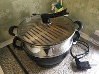 Stone Non stick Stir fried, steamer, 33cm large wok