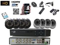 8 Full HD CCTV Cameras 2.4 M pixel Package Clear Image 1080 Night Vision +2TB HDD