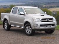 2011/60 TOYOTA HILUX 3.0 INVINCIBLE MANUAL, SILVER, 1 OWNER, SERVICE HISTORY, 86K