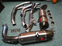 Yamaha r1 Akrapovic full titanium evo system