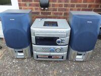 AIWA Z-L520 HiFi , 3 cd player ,radio , ipod/mp3 lead ,integrated amp 140watts