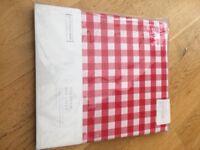 Little white company red gingham single duvet cover