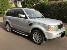 Range Rover sport silver diesel automatic 2.7
